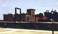 American Painters:  Edward Hopper--Manhattan Bridge Loop 1928.  Oil on canvas. Addison Gallery of American Art.