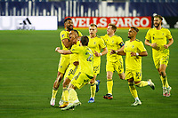20th November 2020, Nashville, TN, USA;  Nashville SC midfielder Randall Leal (8) celebrates teammates after scoring a goal during an MLS Cup Playoffs Eastern Conference Play-In game between Nashville SC and Inter Miami, November 20, 2020 at Nissan Stadium
