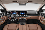 Stock photo of straight dashboard view of 2021 Mercedes Benz E-Class All-terrain-Avantgarde 5 Door Wagon Dashboard