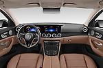 Stock photo of straight dashboard view of 2021 Mercedes Benz E-Class All-terrain-Avantgarde 5 Door Wagon Dashboard