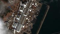 Earthquake and Tsunami damage, Japan-March 12, 2011: This is a satellite image of Japan showing damage after an Earthquake and Tsunami at the Fukushima Dai-Ichi Nuclear Power plant. (credit: DigitalGlobe) www.digitalglobe.com