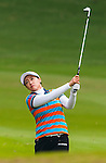 Ran Hong of Korea in action during the Hyundai China Ladies Open 2014 on December 10 2014 at Mission Hills Shenzhen, in Shenzhen, China. Photo by Xaume Olleros / Power Sport Images