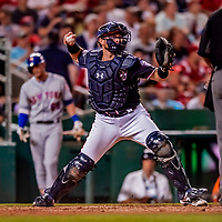 21 September 2018: Washington Nationals catcher Spencer Kieboom in action against the New York Mets at Nationals Park in Washington, DC. The Mets defeated the Nationals 4-2 in the second game of their 4-game series. Mandatory Credit: Ed Wolfstein Photo *** RAW (NEF) Image File Available ***