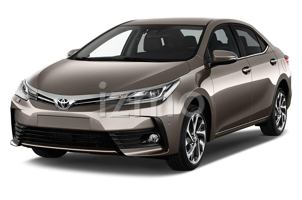 2017 Toyota Corolla Lounge 4 Door Sedan Angular Front stock photos of front three quarter view