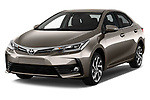 2017 Toyota Corolla Lounge 4 Door Sedan Angular Front stock photos of front three quarter view