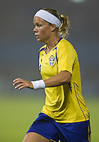Sweden defender (6) Sara Thunebro. Sweden (SWE) tied Nigeria (NGA) 1-1 during a FIFA Women's World Cup China 2007 opening round Group B match at Chengdu Sports Center Stadium, Chengdu, China, on September 11, 2007.