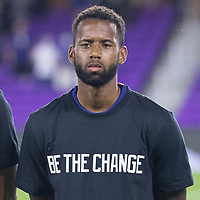 ORLANDO CITY, FL - JANUARY 31: Kellyn Acosta of the United States during a game between Trinidad and Tobago and USMNT at Exploria stadium on January 31, 2021 in Orlando City, Florida.
