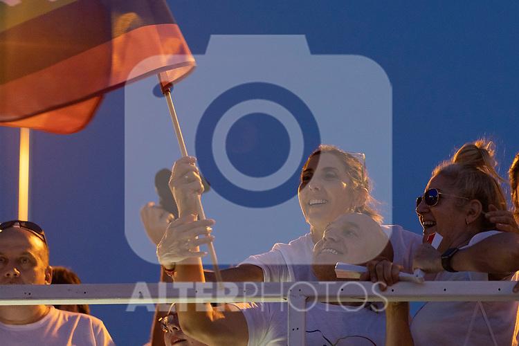 Presenter Paz Padilla in manifestation of the lgtb pride party of Madrid. July 6, 2019. (ALTERPHOTOS/JOHANA HERNANDEZ)