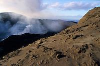 Smoke billowing from the crater of Yasur Volcano, Tanna Island, Vanuatu.