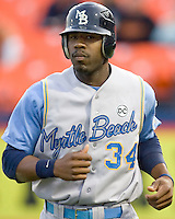Heyward, Jason 1640.jpg. Carolina League Myrtle Beach Pelicans at the Frederick Keys at Harry Grove Stadium on May 13th 2009 in Frederick, Maryland. Photo by Andrew Woolley.