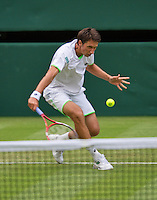 26-06-13, England, London,  AELTC, Wimbledon, Tennis, Wimbledon 2013, Day three, Sergly Stakhovsky (UKR)<br /> <br /> <br /> <br /> Photo: Henk Koster