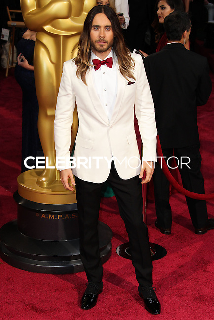 HOLLYWOOD, CA, USA - MARCH 02: Jared Leto at the 86th Annual Academy Awards held at Dolby Theatre on March 2, 2014 in Hollywood, Los Angeles, California, United States. (Photo by Xavier Collin/Celebrity Monitor)