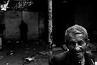Teheran, Iran, April 12, 2007.A beggar inside the main Teheran bazar..