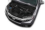 Car Stock 2018 Honda Ridgeline RTL-T 4 Door Pick-up Engine  high angle detail view