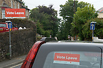Vote Leave signs and car sticker 2016
