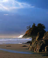 Trinidad State Beach at dusk. California.