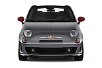 Car photography straight front view of a 2017 Fiat 500c Abarth-Cabrio 2 Door Convertible Front View