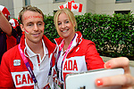 LONDON, ENGLAND 26/08/2012 - Members of Team Canada ham it up during a pep rally at Canada House at the London 2012 Paralympic Games. (Photo: Phillip MacCallum/Canadian Paralympic Committee)