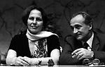 CONGRESSO PCI PALAZZO DEI CONGRESSI ROMA 1970 - NILDE IOTTI CON ALESSANDRO NATTA