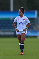 Lagi Tuima of England during the Guinness Six Nations match between England Women and Scotland Women at Castle Park Stadium, Doncaster, England on 3 April 2021. Photo by Thomas Gadd / PRiME Media Images.