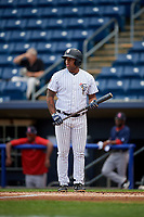 Staten Island Yankees left fielder Canaan Smith (11) at bat during a game against the Lowell Spinners on August 22, 2018 at Richmond County Bank Ballpark in Staten Island, New York.  Staten Island defeated Lowell 10-4.  (Mike Janes/Four Seam Images)