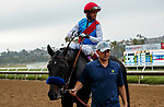 DEL MAR, CA  AUGUST 29:#2 Medina Spirit ridden by John Velasquez, returns to the connections after winning the Shared Belief Stakes on August 29, 2021 at Del Mar Thoroughbred Club in Del Mar, CA. (Photo by Casey Phillips/Eclipse Sportswire/CSM)