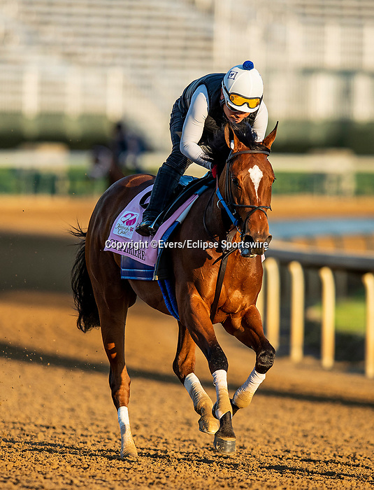 April 27, 2021:  Clairiere gallops in preparation for the Kentucky Oaks at Churchill Downs in Louisville, Kentucky on April 27, 2021. EversEclipse Sportswire/CSM