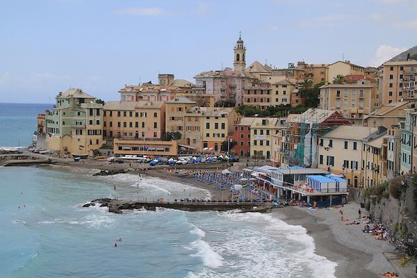 Pizza restaurant along the Mediterranean Sea in Bogliasco, Genova, Italy.
