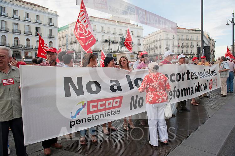 Expression of the Spanish trade unions against cuts and closures of public services..(Alterphotos/Ricky)