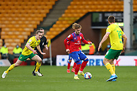 20th March 2021; Carrow Road, Norwich, Norfolk, England, English Football League Championship Football, Norwich versus Blackburn Rovers; Harvey Elliott of Blackburn Rovers under pressure from Oliver Skipp of Norwich City