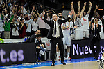 Real Madrid´s coach Pablo Laso during 2014-15 Euroleague Basketball Playoffs second match between Real Madrid and Anadolu Efes at Palacio de los Deportes stadium in Madrid, Spain. April 17, 2015. (ALTERPHOTOS/Luis Fernandez)