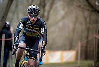 Jim Aernouts (BEL/Telenet-Baloise Lions)<br /> <br /> Elite + U23 Men's Race<br /> CX GP Leuven (BEL) 2020<br />  <br /> ©kramon