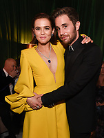 BEVERLY HILLS - JANUARY 5: (L-R) THE POLITICIAN cast members Zoey Deutch and Ben Platt attend The Walt Disney Company 2020 Golden Globe Awards Nominee Celebration at The Disney Terrace on the Roof Deck at the Beverly Hilton on January 5, 2020 in Beverly Hills, California. (Photo by Frank Micelotta/The Walt Disney Company/PictureGroup)