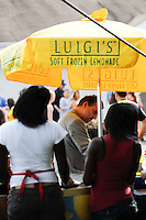 Luigi's Soft Frozen Lemonade stand. FC Gold Pride defeated Sky Blue FC 1-0 during a Women's Professional Soccer (WPS) match at Yurcak Field in Piscataway, NJ, on May 1, 2010.