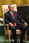 DSG meeting<br /> <br /> AM Plenary General DebateHis<br /> <br /> <br /> His Excellency Recep Tayyip Erdogan, President, Republic of Turkey