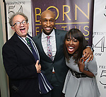 """William Ivey Long, Donald Webber Jr. and Loren Lott backstage after a Song preview performance of the Bebe Winans Broadway Bound Musical """"Born For This"""" at Feinstein's 54 Below on November 5, 2018 in New York City."""