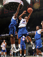 Marquis Rankin at the NBPA Top100 camp at the John Paul Jones Arena Charlottesville, VA. Visit www.nbpatop100.blogspot.com for more photos. (Photo © Andrew Shurtleff)