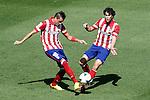 Atletico de Madrid's Jose Maria Gimenez (l) and Tiago Cardoso during La Liga match.September 14,2013. (ALTERPHOTOS/Acero)