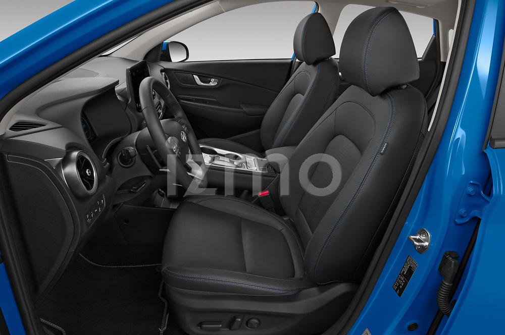 Front seat view of 2021 Hyundai Kona-EV Sky 5 Door SUV Front Seat  car photos