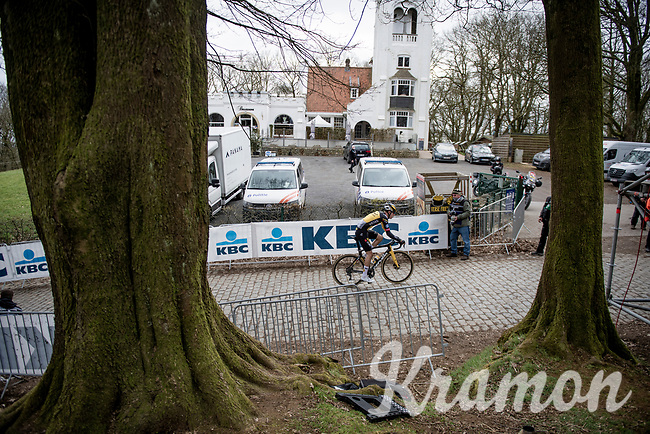 alone up the infamous Kemmelberg<br /> <br /> 83rd Gent-Wevelgem - in Flanders Fields (ME - 1.UWT)<br /> 1 day race from Ieper to Wevelgem (BEL): 254km<br /> <br /> ©kramon