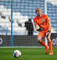 20th February 2021; The John Smiths Stadium, Huddersfield, Yorkshire, England; English Football League Championship Football, Huddersfield Town versus Swansea City; Ryan Schofield of Huddersfield Town rolls the ball out into play