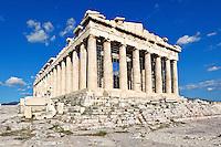 The Parthenon (447 B.C.) on the Athenian Acropolis, Greece