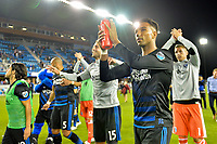 San Jose, CA - Monday July 10, 2017: Danny Hoesen after a U.S. Open Cup quarterfinal match between the San Jose Earthquakes and the Los Angeles Galaxy at Avaya Stadium.