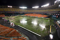 Washington, DC - August 12, 2017: D.C. United played Real Salt Lake during a Major League Soccer (MLS) match at RFK Stadium.  The game was cancelled due to the field being declared unplayable after a thunderstorm.