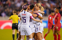 HOUSTON, TX - JANUARY 31: Lynn Williams #13 of the United States and her teammates celebrate her goal during a game between Panama and USWNT at BBVA Stadium on January 31, 2020 in Houston, Texas.