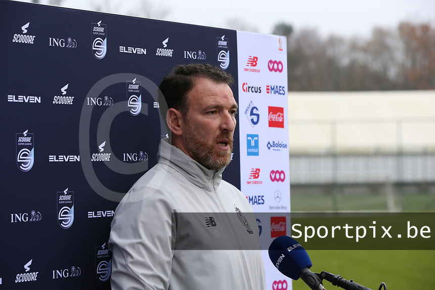 Head coach Hamide Lamara (Standard) gives an interview before  a female soccer game between Standard Femina de Liege and RSC Anderlecht on the 9th matchday of the 2020 - 2021 season of Belgian Scooore Womens Super League , saturday 12 th of December 2020  in Angleur , Belgium . PHOTO SPORTPIX.BE | SPP | SEVIL OKTEM