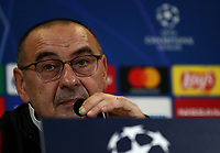 Juventus' coach Maurizio Sarri speaks during a press conference on November 25, 2019 at the Juventus Allianz stadium in Turin, on the eve of the UEFA Champions League Group D football match Juventus vs Atletico Madrid.<br /> UPDATE IMAGES PRESS/Isabella Bonotto