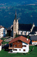Obersaxen-Meierhof, Vorderrhein, Graubünden, Schweiz.