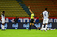 MEDELLIN - COLOMBIA, 13-01-2021: Carlos Ortega, arbitro, durante partido por los cuartos de final entre Deportivo Independiente Medellín y Atlético Junior como parte de la Copa BetPlay DIMAYOR 2020 jugado en el estadio Atanasio Girardot de la ciudad de Medellín. / Carlos Ortega, referee, during Match for the quarter-finals between Deportivo Independiente Medellin and Atletico Junior as part of the 2020 DIMAYOR BetPlay Cup played at Atanasio Girardot stadium in Medellin city. Photo: VizzorImage / Luis Benavides / Cont