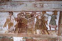 Europe/France/Poitou-Charentes/86/Vienne/Saint-Savin: Eglise romane de l'Abbaye Saint Savin sur Gartempe, fresques de la nef - Tour de Babel